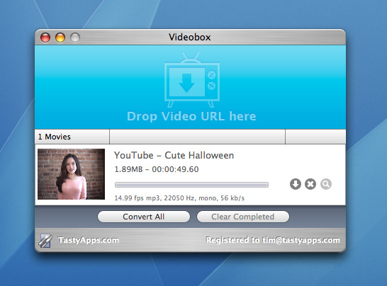 VideoBox 4.0.4 Mac software screenshot