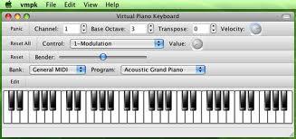 Virtual MIDI Piano Keyboard 0.5.1 Mac software screenshot