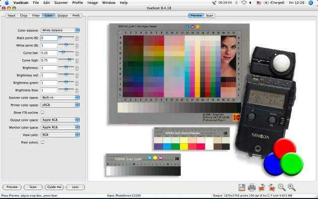 VueScan 9.4.42 Mac software screenshot