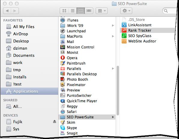 Website Auditor 3.8.1 Mac software screenshot