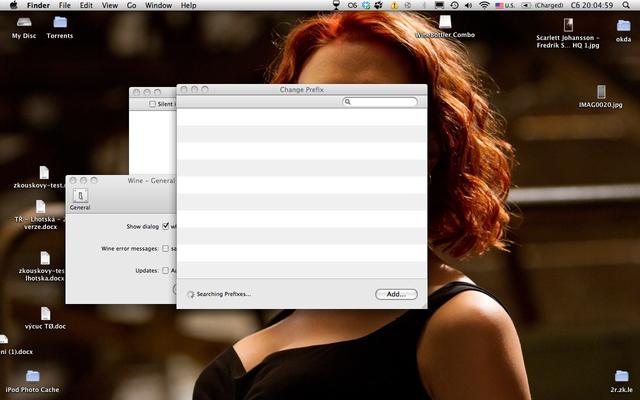 Wine 1.6.2 Mac software screenshot