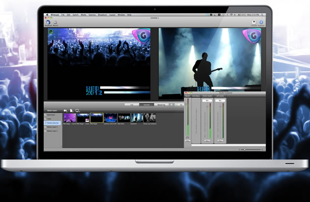 Wirecast 4.3 Mac software screenshot