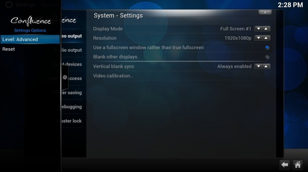 XBMC Media Center 13.0 Mac software screenshot