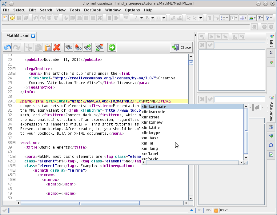 XMLmind XML Editor 6.0 Mac software screenshot