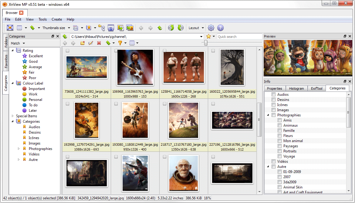 XnViewMP 0.68 Mac software screenshot
