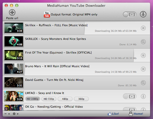 YouTube Downloader 3.4.7 Mac software screenshot
