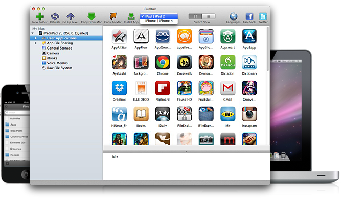 iFunBox 1.5.0860 Mac software screenshot