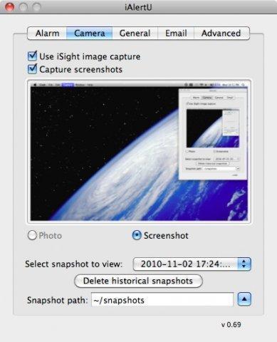 iAlertU 0.80 Mac software screenshot