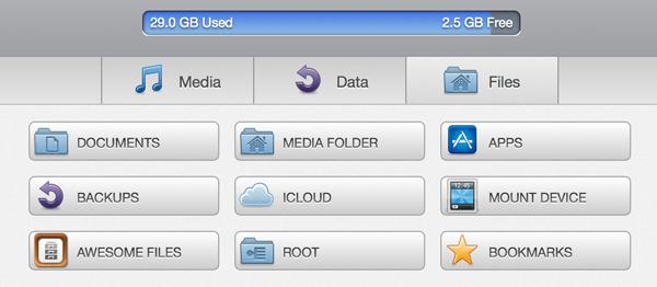 iExplorer 3.2.1.3 Mac software screenshot