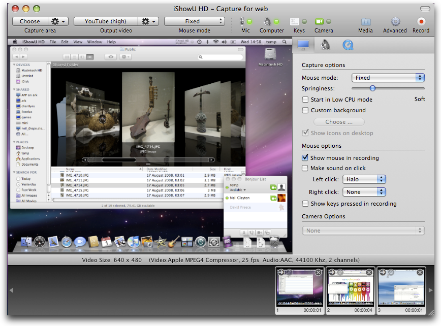 iShowU HD Pro 2.3.9 Mac software screenshot