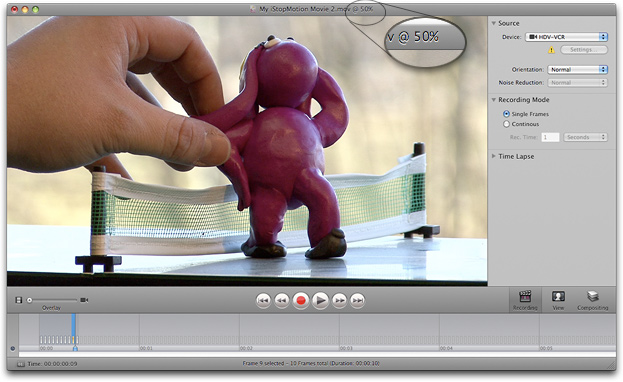 iStopMotion 3.6.15980 Mac software screenshot