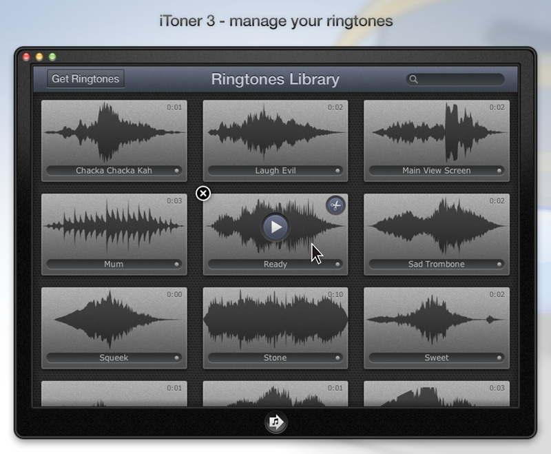 iToner 3.0.2 Mac software screenshot