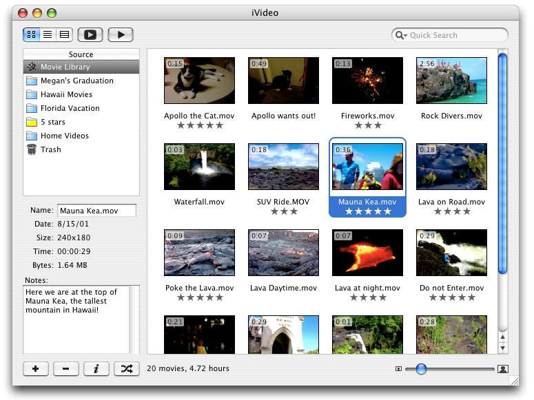 iVideo 6.3.2 Build 1074 Mac software screenshot