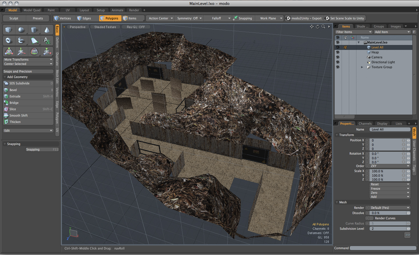 modo 701 SP 1 Build 59358 Mac software screenshot