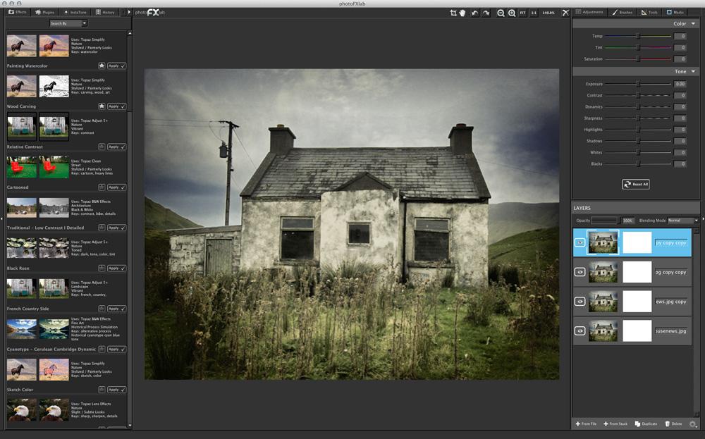 photoFXlab 1.2.5 Mac software screenshot