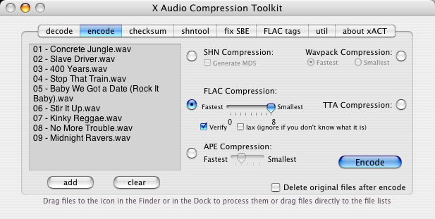 xACT 2.33.7047 Mac software screenshot