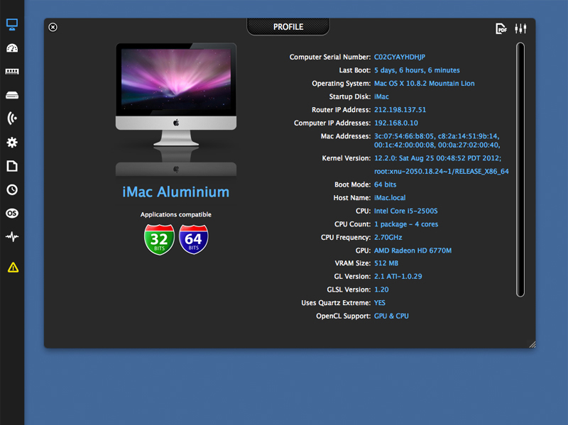 xScan 3.2.13 Mac software screenshot