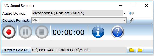 1AV Sound Recorder 1.0.0.90 software screenshot