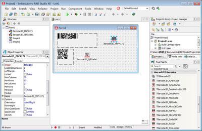 2D Barcode VCL Components 8.0.1.2446 software screenshot