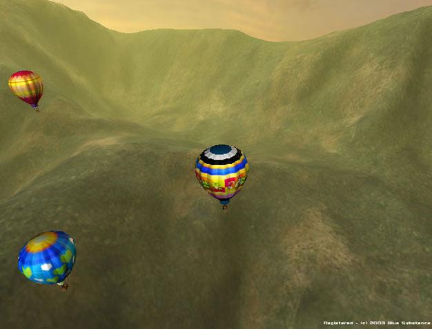 3D Hot Air Balloon Screen Saver 1.1 software screenshot