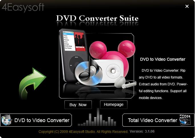 4Easysoft DVD Converter Suite 3.2.20 software screenshot