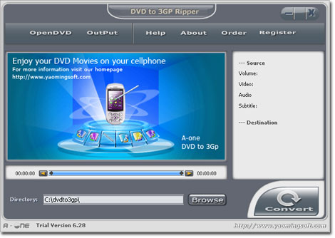 A-one DVD to MP3 Ripper 7.6.3 software screenshot