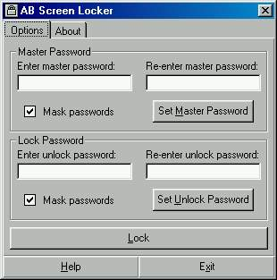 AB Screen Locker 3.62 software screenshot
