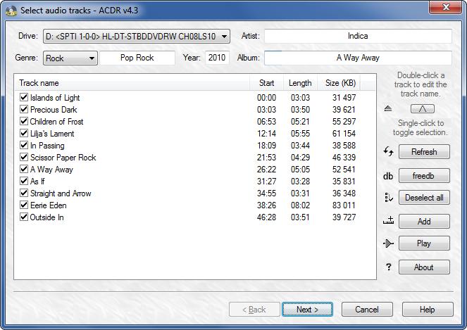 ACDR 4.3 software screenshot