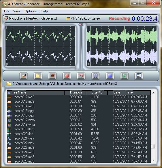 AD Stream Recorder 4.5.4 software screenshot