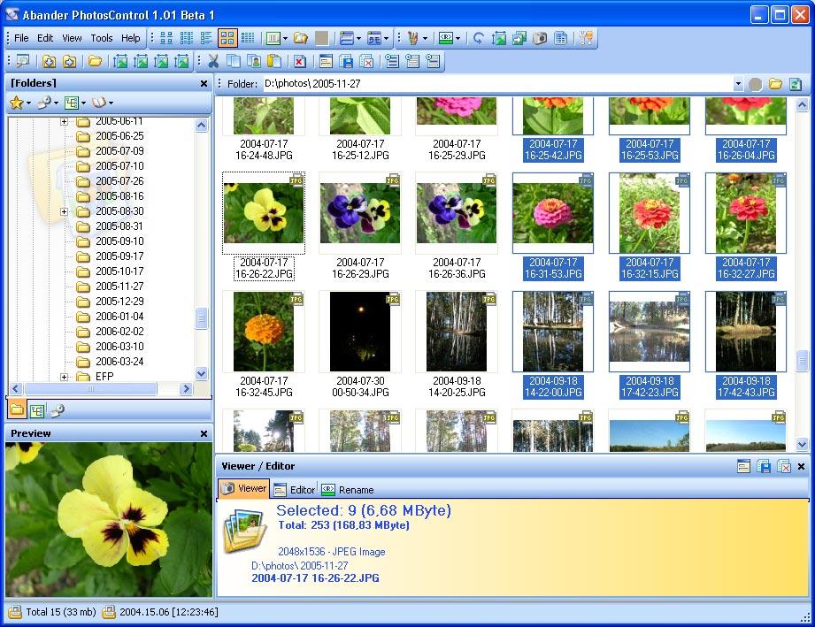 Abander PhotosControl 1.01 B01 software screenshot