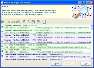 Abee MP3 Duplicates Finder 3.0 software screenshot