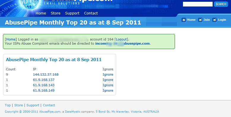 AbusePipe Abuse Desk Management Software 3.0 software screenshot