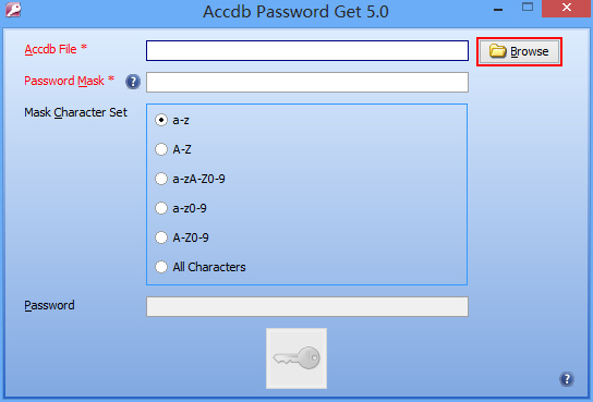 Accdb Password Get 5.0 software screenshot
