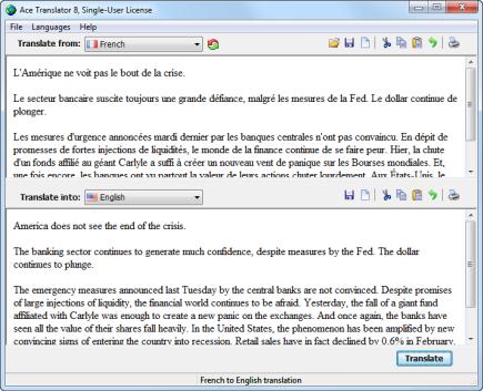 Ace Translator 12.0.0.912 software screenshot