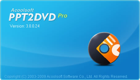 Acoolsoft PPT to DVD Pro 3.2.7 software screenshot