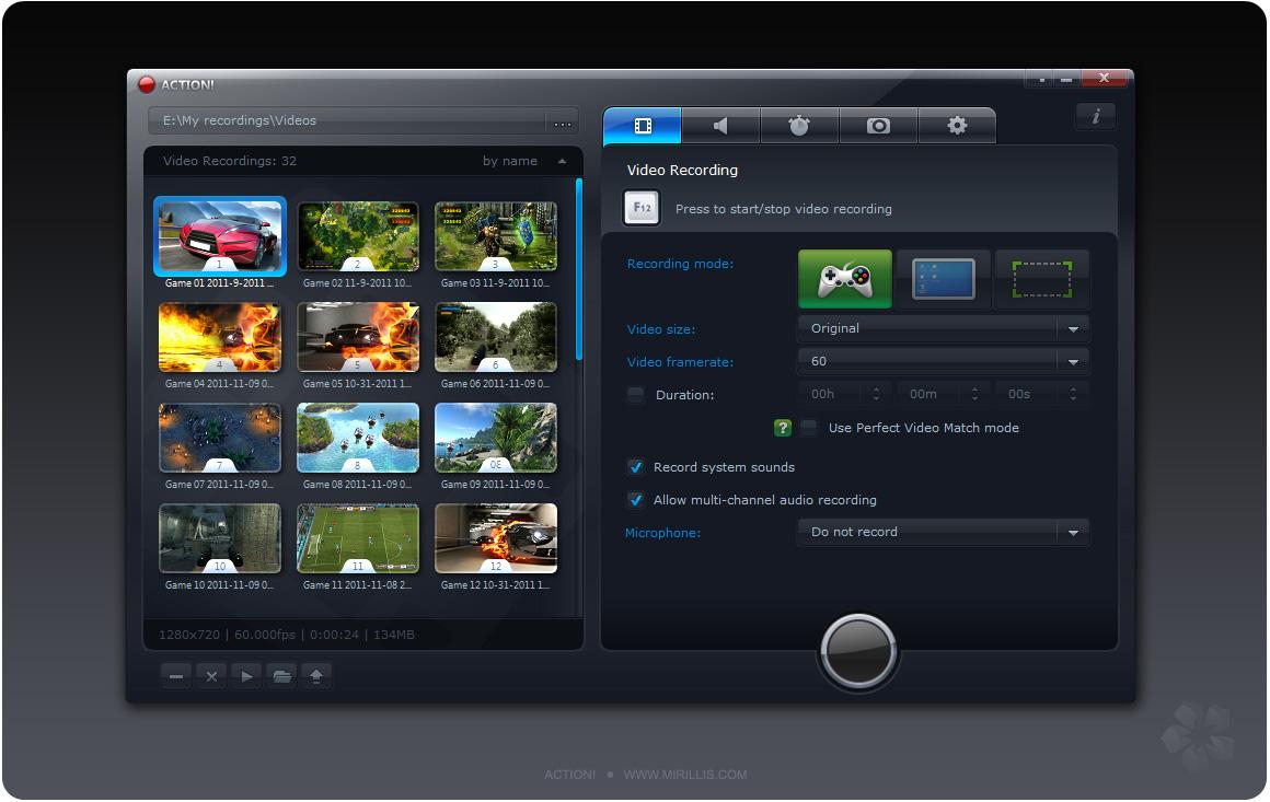 Action! 2.5.5 software screenshot