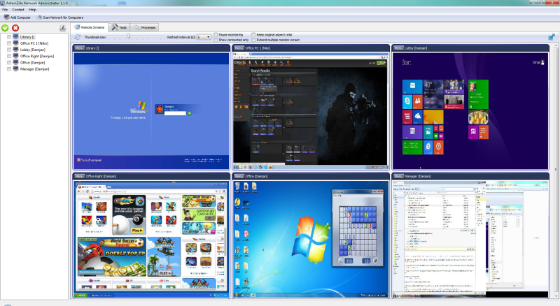 AdminZilla Network Administrator 1.5.2 software screenshot