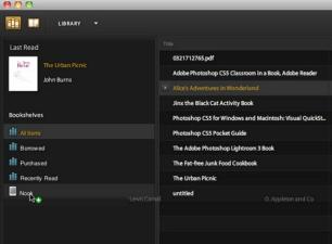 Adobe Digital Editions 4.5.5.173692 software screenshot