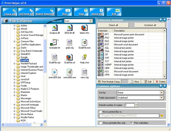 Advanced Batch Print Helper & Converter V3.0 software screenshot