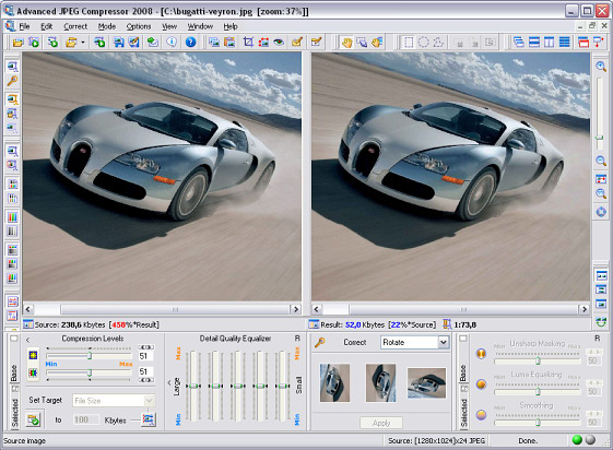 Advanced JPEG Compressor 2017 software screenshot