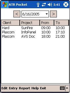Advanced Time Reports Pocket 8.0.32 software screenshot