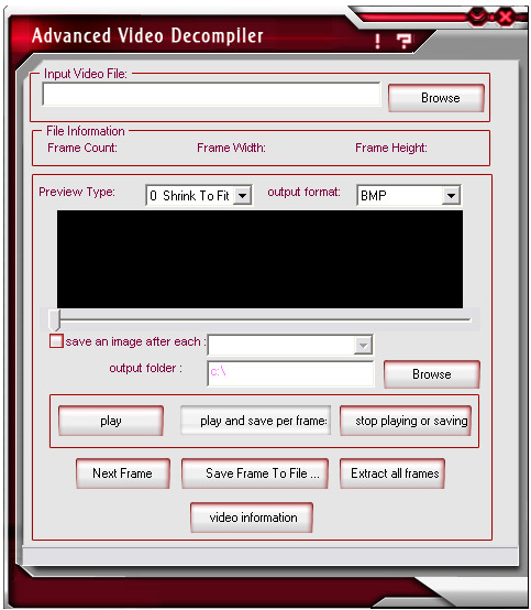 Advanced Video Editing 3.0.0.9 software screenshot