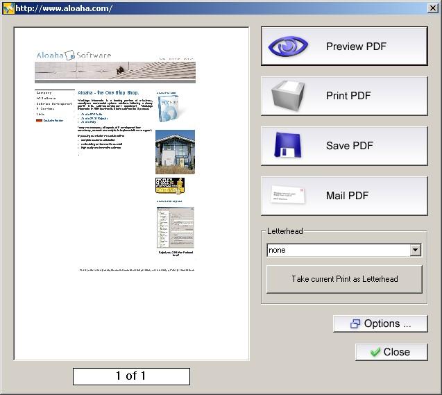 Aloaha PDF Suite 6.0.222 software screenshot