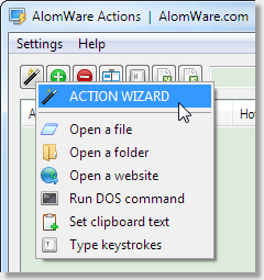 AlomWare Actions 1.47 software screenshot
