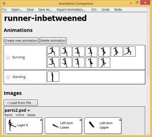Animation Companion 0.8.07 software screenshot