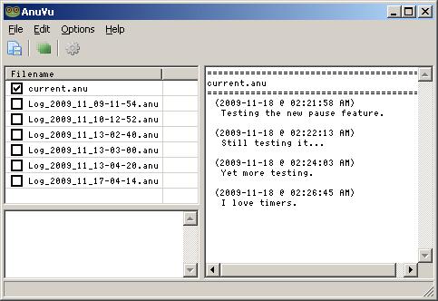 Anuran 1.1.2.1 software screenshot