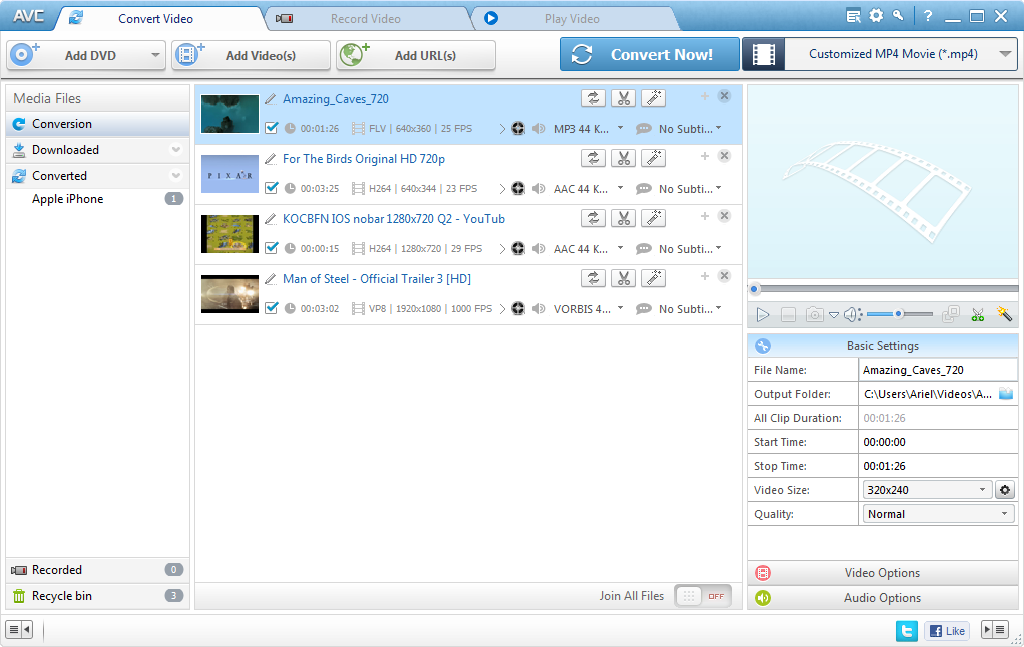 Any Video Converter Ultimate 6.1.5 software screenshot