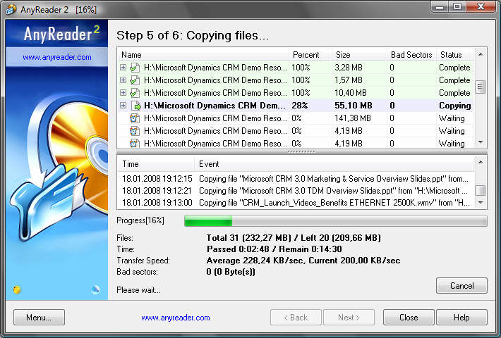 AnyReader 3.16.1130 software screenshot