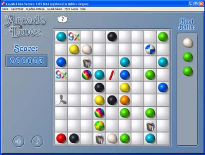 Arcade Lines 1.81 software screenshot