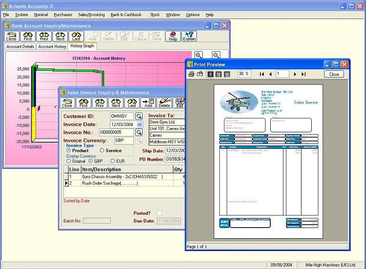 Artemis Accounts II - Standard 2.91 software screenshot